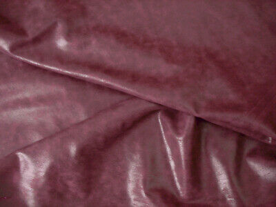 BARKERS LEATHER SKINS N228 BORDEAUX Buffed cowhide Re-enactment Costume Fashion