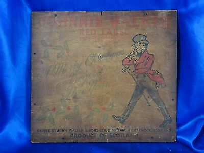 Vintage Johnnie Walker Red Label Wooden Box End Merry Christmas & Good New Year