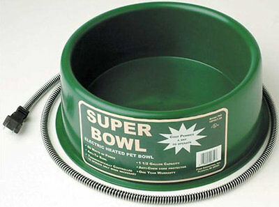 Premium Heated Pet Bowl - Dogs Cats Pets Heated Waterer 1.5 Gallon NEW