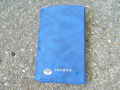 Daewoo Blue Plastic Wallet For Vehicle Documents Etc