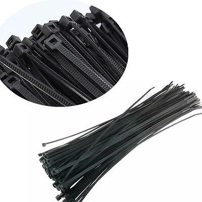 100pcs Black 3x100mm Network Nylon Plastic Cable Wire Zip Tie Cord Strap TIAU
