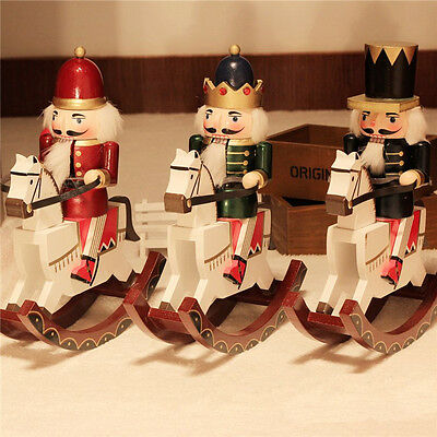 12'' Vintage Hobbyhorse Nutcracker Soldier Xmas Holiday Wooden Table Walnut Toy