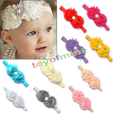 Baby Girls Toddlers 10PCS Infant Flower Headband Kids Hair Bow Band Accessories