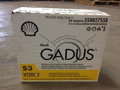 Shell Gadus S3 V220 C 2 10 Pack of Grease Tubes (Retinax LX2 and Albida EP2)