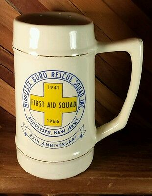First Aid Squad - Middlesex, New Jersey 25th Anniversary 1941 to 1966 Beer Stein
