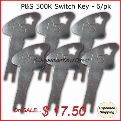 Pass & Seymour 500K Tamper Proof Electrical Switch Key - (6/pack)