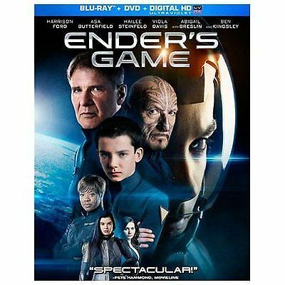 Ender's Game (Blu-ray, 2014, NO DVD, DIGITAL COPY OF SLIP COVER) SHIPS FREE