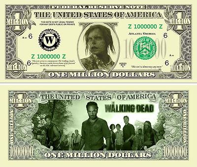WALKING DEAD BILLET MILLION DOLLAR US Série Zombie Mort Vivant bd Horreur the 6