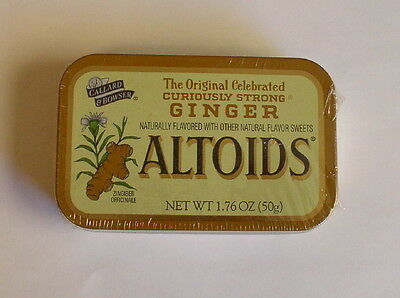 1 ALTOIDS GINGER FACTORY SEALED COLLECTIBLE TIN UNOPENED