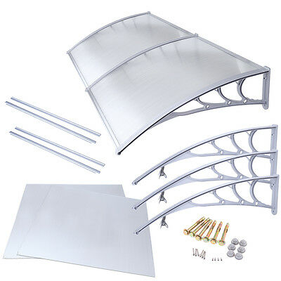 3mX1m Polycarbonate Window Door Awning Cover Patio Cover Sun Shield Canopy