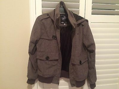 Rare Clandestine Industries Wool Jacket Size XS Pete Wentz Fall Out Boy
