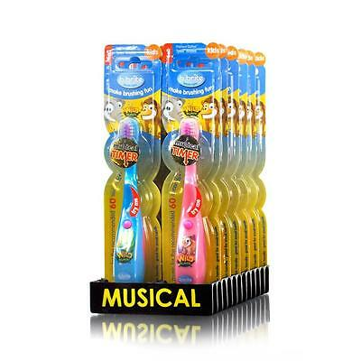 2x Kids music toothbrush Musical Toothbrushes Bristles Soft Brush Oral Care