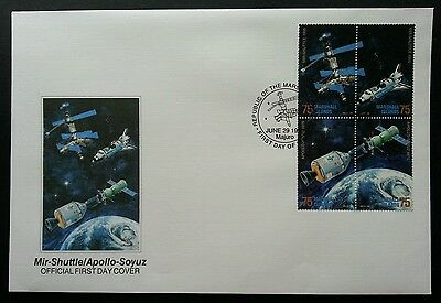Marshall Islands Apollo 1995 Space Astronomy Satellite Earth Rocket (stamp FDC)