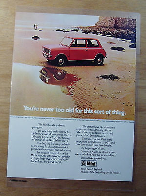 1973 Motor Sport Magazine Advert - MINI - YOU'RE NEVER TOO OLD...