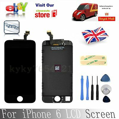 "For iPhone 6 4.7""Black LCD Touch Display Assembly Digitizer Screen Replacement"