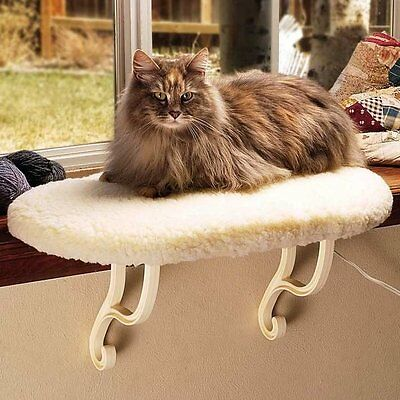 K & H Window Sill Perch Cat Pet Window Seat Kitten Kitty Sill UNHEATED NEW