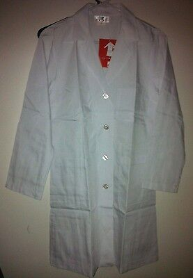 Lab Coat White Light Weight 3 Pockets 4 Buttons by Expo S, M, L, XL