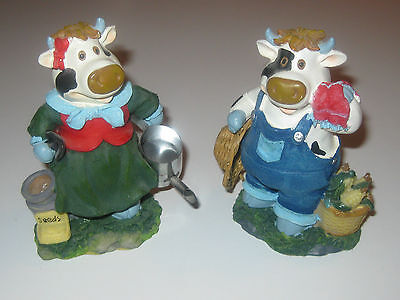 MR. & MRS. FARMER COW COUPLE ADORABLE COLLECTIBLE MINT CONDITION!