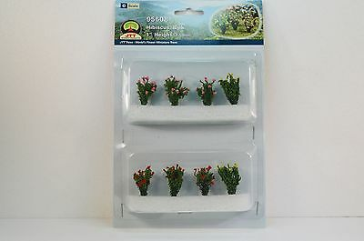 """JTT Scenery Hibiscus 1"""" Height 8/pack O Scale 95608 NEW"""