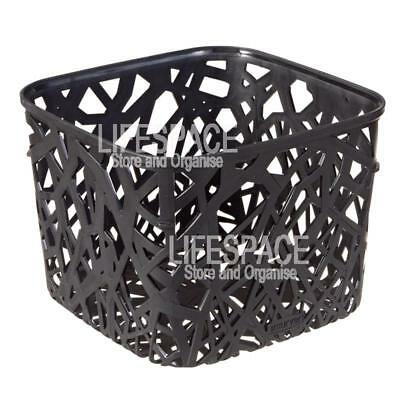 Curver Neo Basket Square Black for Office Bathroom Laundry Kitchen Storage NEO