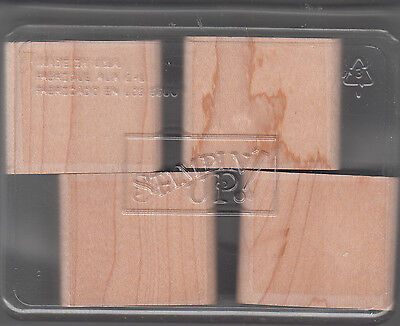 Stampin Up-4 USED Maple Wood Blocks for mounting Stamp w/clamshell case