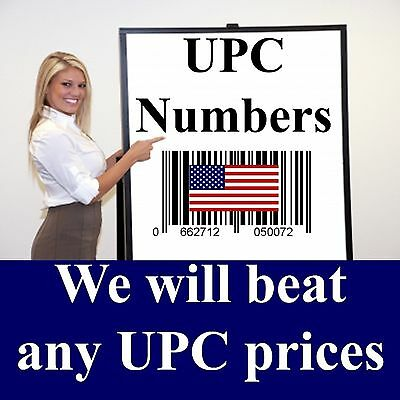 1000 UPC 1,000 Barcode Numbers - READ this before buying FAKE UPC numbers
