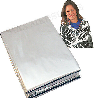 Premium FOIL Thermal Emergency BLANKET, First Aid Waterproof Camping Survival