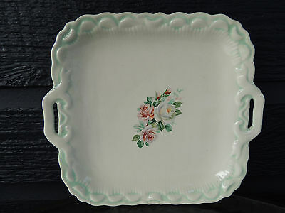 Vintage Rose Pattern Platter no backstamp
