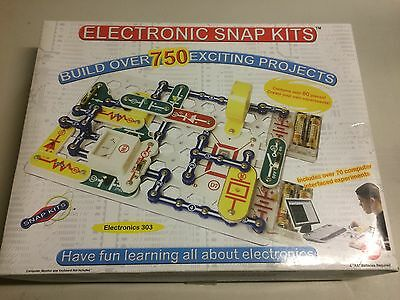 ELECTRONIC SNAP KITS 750 PROJECTS 80 PC ELECTRONICS 303 COMPLETE RADIO SHACK