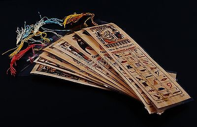 SALE Lot Of 500 Ancient Egyptian Authentic Large Hand Made Papyrus Book Marks