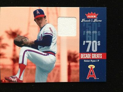 Nolan Ryan Fleer Greats Of The Game 2006 Relic Jersey Card Dec - Nr Mint Rare