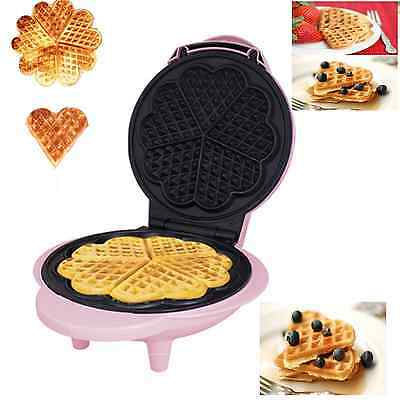 New Waffle Maker Iron Press Machine Breakfast Food Non Stick Baker Grill Belgian