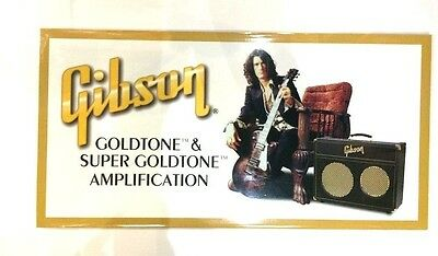 CLEARANCE Joe Perry for Gibson Goldtone Amplifier Promo Poster UNOPENED