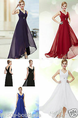 Long Maxi Cocktail Evening Bridesmaid Formal Party Prom Dress Gown Size 8 -18 UK