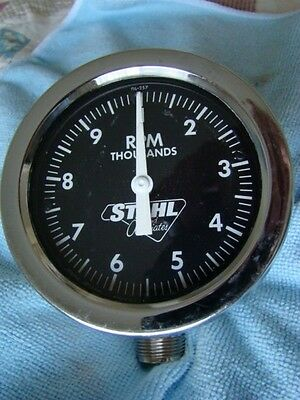 Vintage Rare Stahl Jones Moroso Mechanical Tachometer Dragster Gasser Drag Race