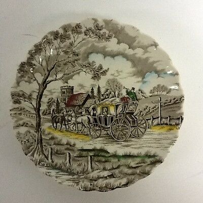 """Myott Fine Staffordshire Ware Made In England """"Royal Mail Carriage Scene"""" Saucer"""