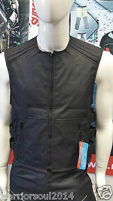 New WARRIOR ICON SWAT MOTRCYCLE MOTORBIKE ADJUSTABLE FITTING BIKER VEST & GILETS