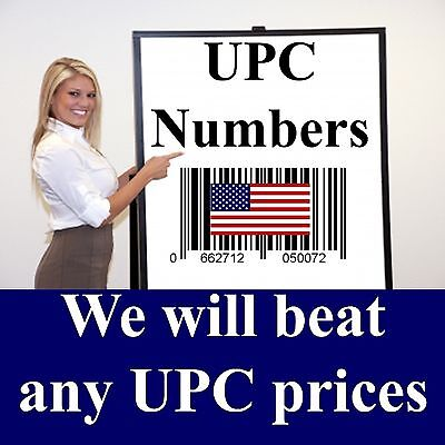 10,000 UPC Bar code Barcode Numbers - READ this before buying FAKE UPC numbers