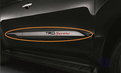 Side Door Silver Sticker Trd Sportivo Decal For Toyota Fortuner Sr5 Suv 2006-14
