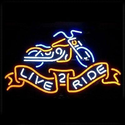 NEW Moto Neon Light Sign Store Display Beer Bar Sign Real Neon 17*14 NRR