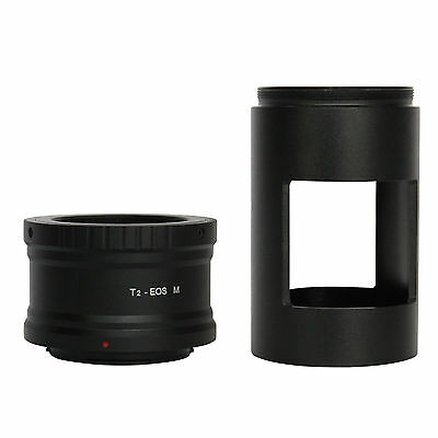 T T2  Lens Adapter for Canon EOS M EF-M Mirrorless Camera +42mm Telescope Tube