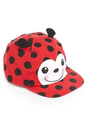 Bnwt ~ Baby Girls Size 0-1   6-18Months Summer Cap Hat Lady Beetle Upf 40+ ~ New