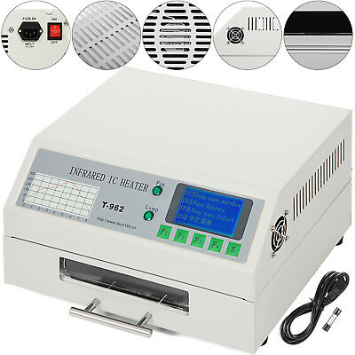 T962 Reflow Oven Infrared IC Heater Visual Operation Micro-Computer Setup New
