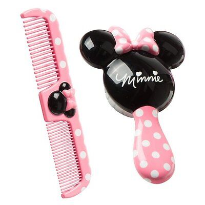 Toy Baby Toddler Disney Minnie Brush Comb Set Wet Dry Hair Care Soft Bristle Fun