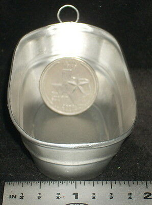 Dollhouse Miniature Galvanized Oval Laundry Washing Tub #T1342-3 Mexican Import