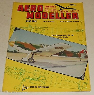 AERO MODELLER June 1965 Plans : MESSERSCHMITT Bf 109 E + APPLE KNOCKER