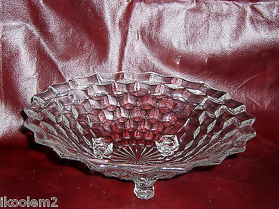 """Fostoria American 3 Toed Footed Bowl - 10"""""""
