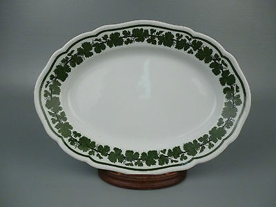 Antique Meissen Full Vine Green Ivy Pattern Serving Tray - Plate Platter PC