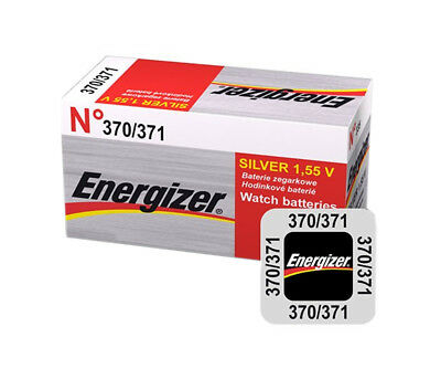 5 x 10 x 20 Energizer 370 371 Battery 1.55v Watch Batteries Silver Oxide AG6