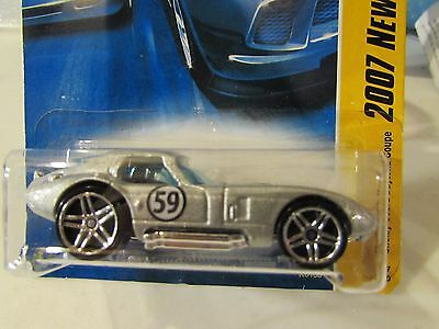 Hot Wheels Shelby Cobra Daytona Coupe 2007 New Models Silver